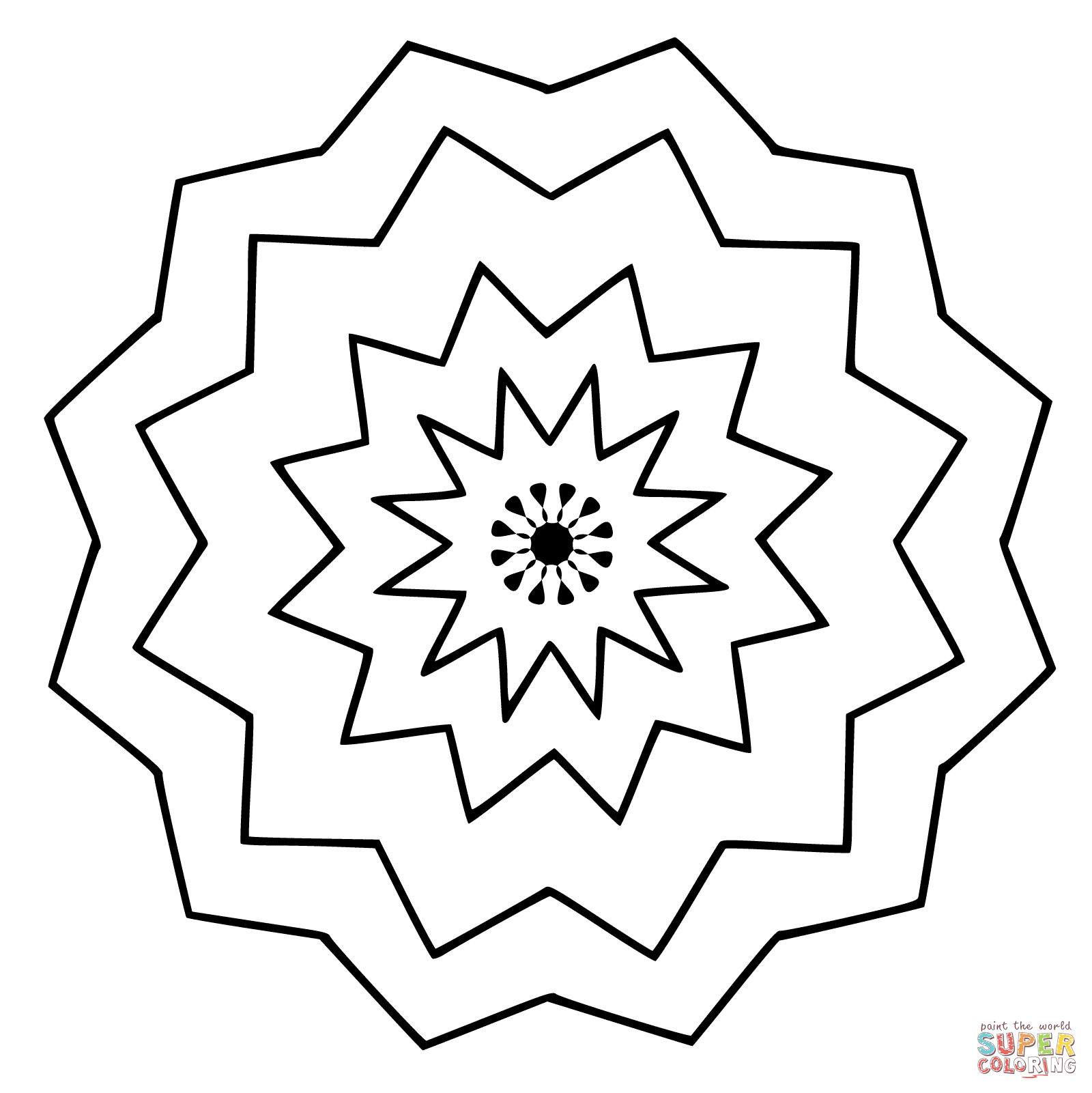 1600x1601 Flower Mandala Coloring Page Free Printable Coloring Pages