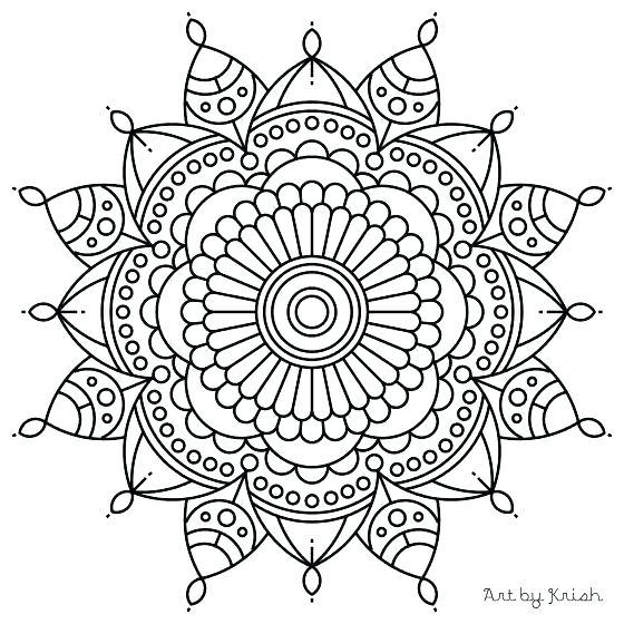 560x560 Online Mandala Coloring Pages Printable Mandala Drawing Online