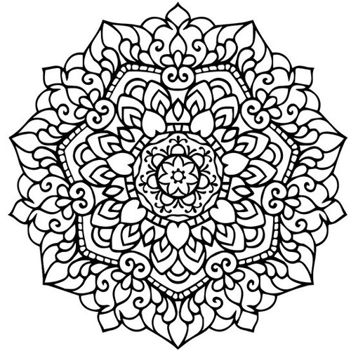 500x500 Glamorous Mandala Coloring Pages Pdf 97 For Your Free