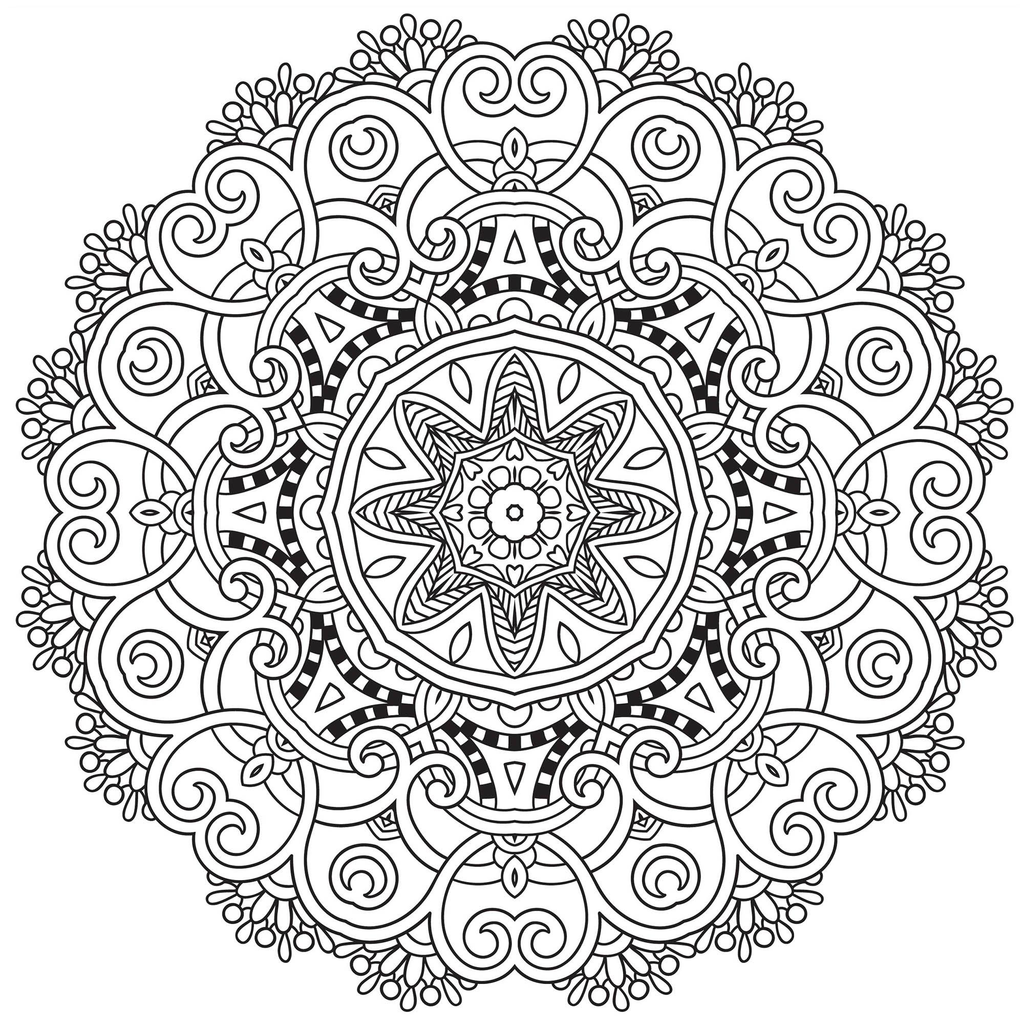 2000x2003 Incredible Mandala To Download In Pdf Mandalas With Flowers