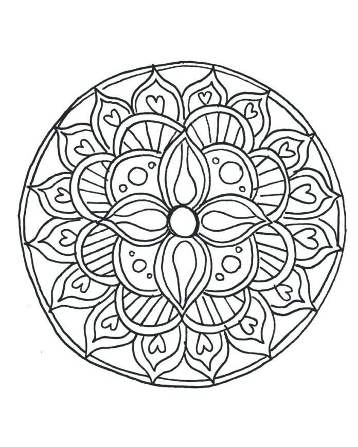 696x870 Mandala Coloring Pages Online Printable Mandala Drawing Online