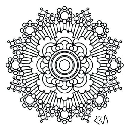 429x438 Mandala Coloring Pages Pdf Free Mandala Free Mandala Coloring