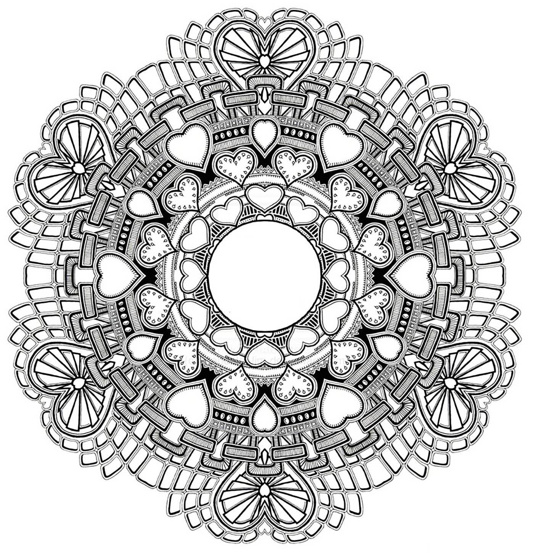 1400x1450 Mandala To Download In Pdf 3From The Gallery Mandalas Para