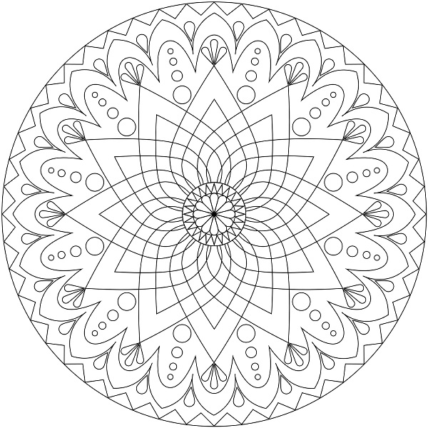 600x600 Coloring Picture Mandala Coloring Pages Printable And Colors