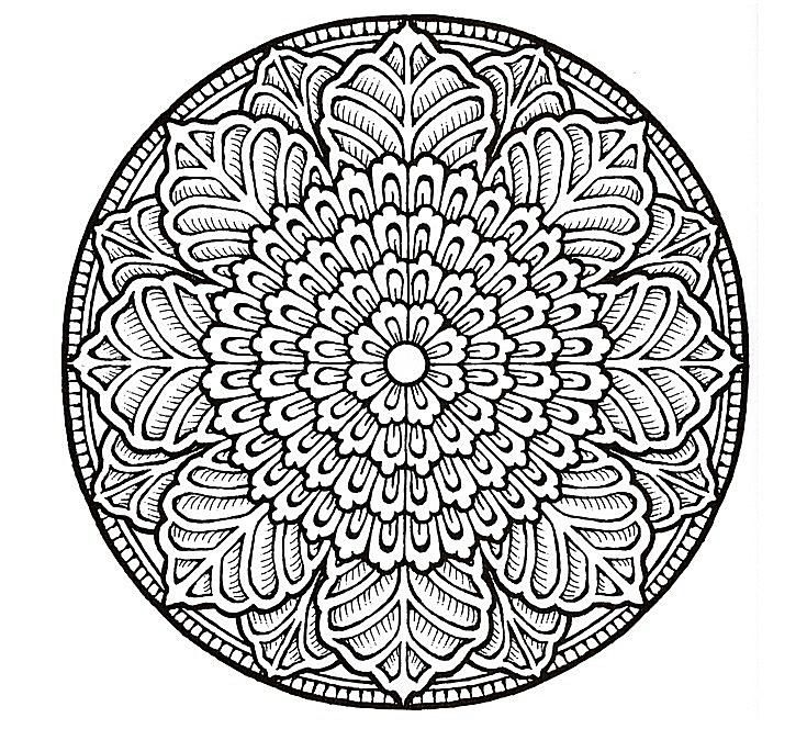 fancy mandala coloring pages - photo#1