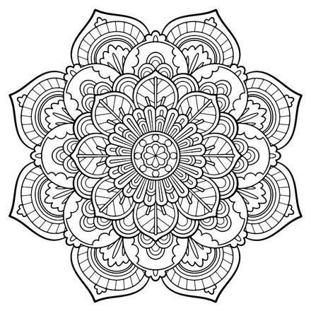 440x440 Perfect Mandala Coloring Pages Printable 92 For Ew Year Color