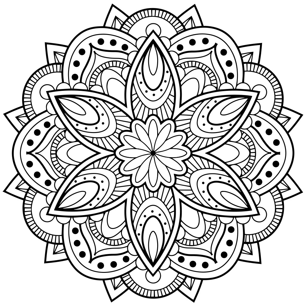 1024x1024 Adult Coloring Pages Mandala