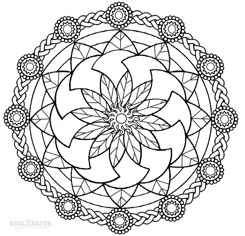 850x818 Printable Mandala Coloring Pages For Kids Cool2bkids