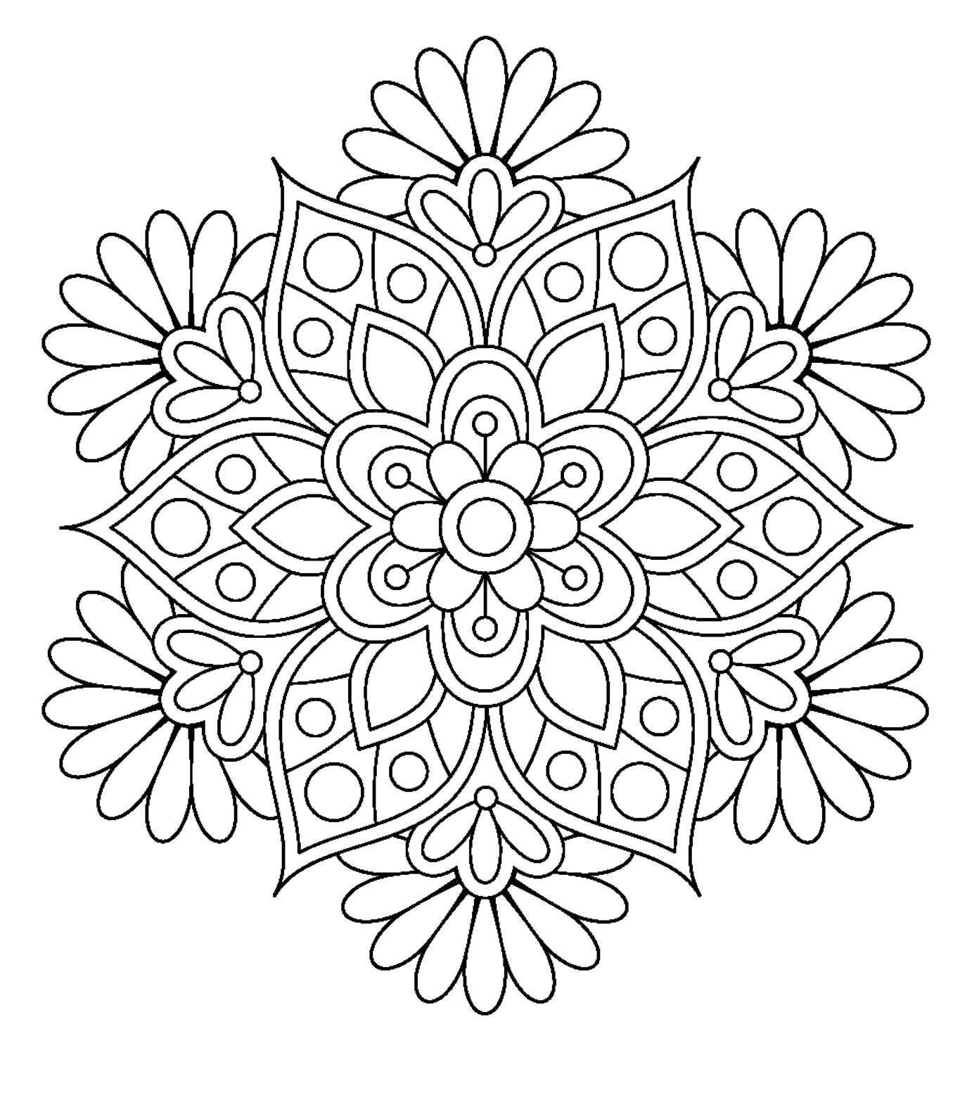 1382x1557 Printable Mandala Drawing Pen