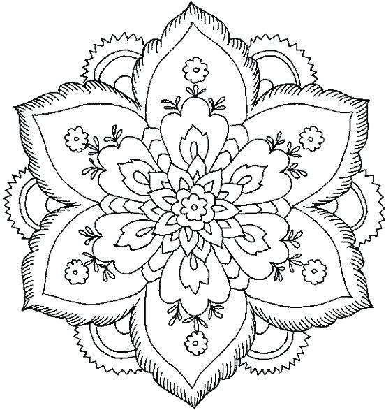 553x587 Unicorn Mandala Coloring Pages