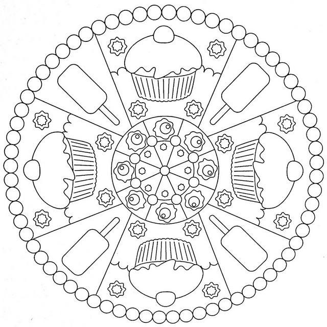 640x640 Coloring Pages. Kids Mandala Coloring Pages