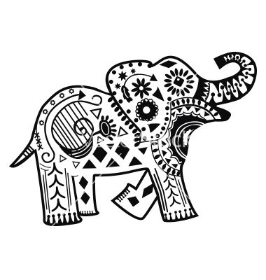 Mandala Elephant Drawing