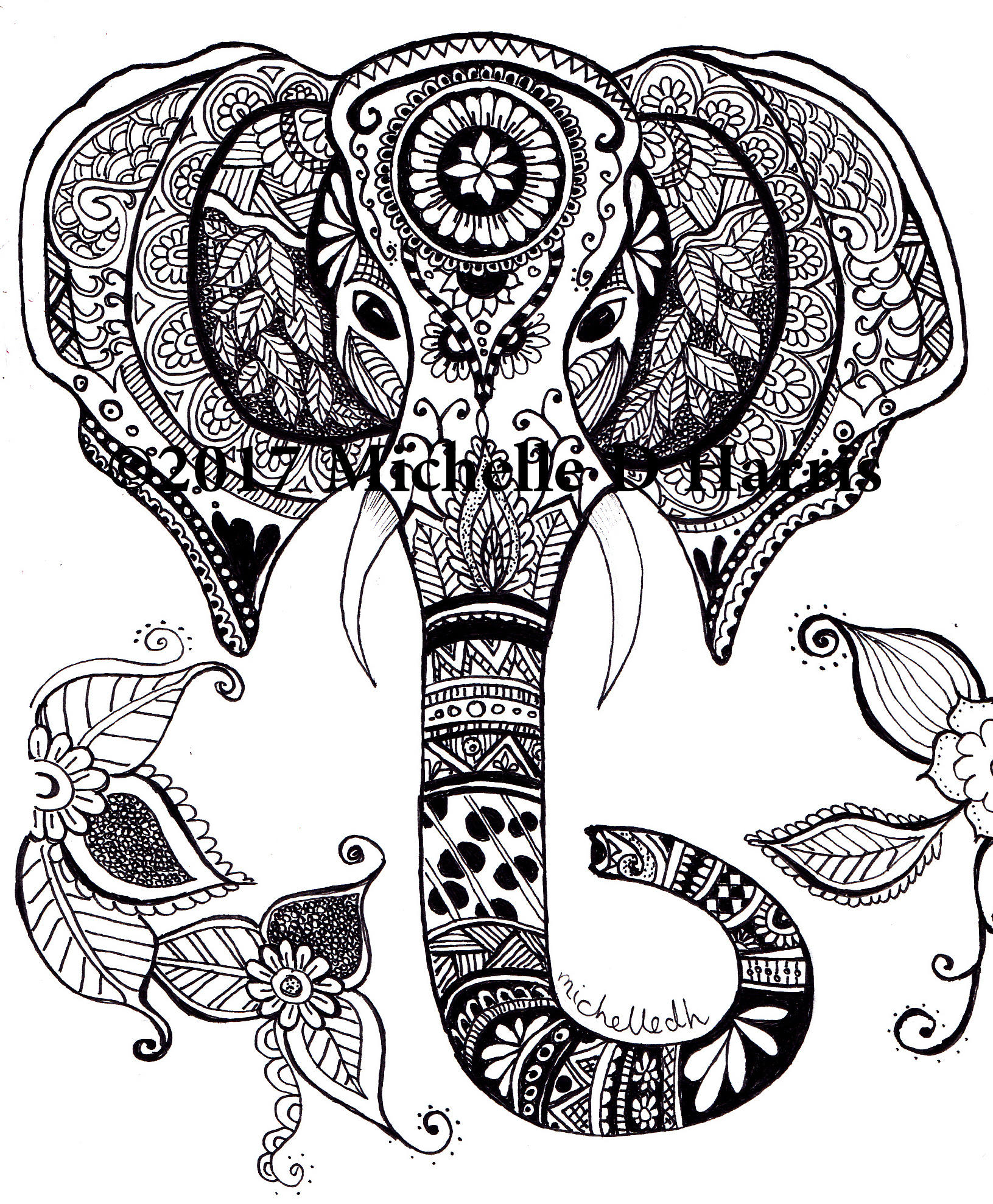 Mandala Elephant Drawing at GetDrawings | Free download