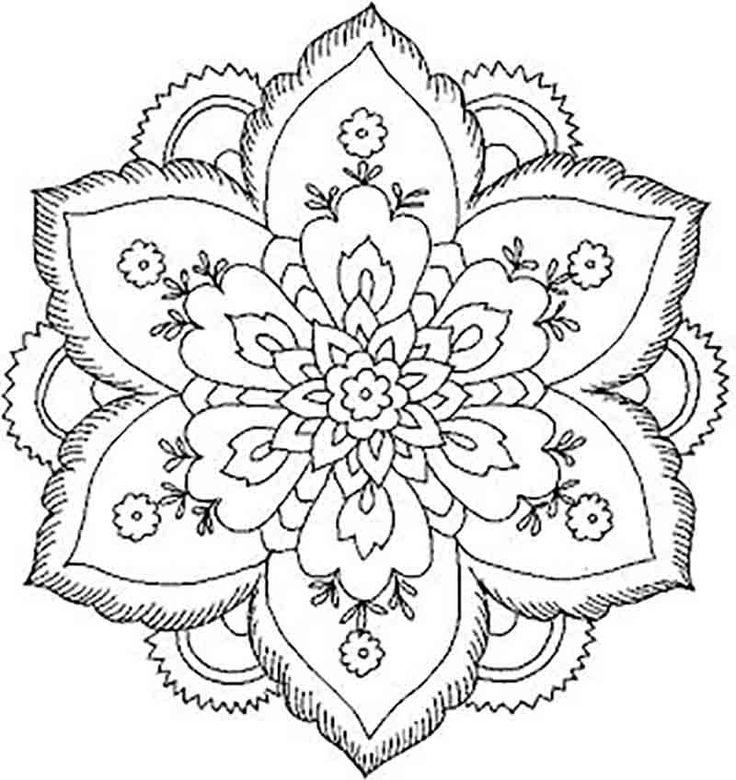 736x780 8 Best Mandala Flowers Images On Mandalas, Adult