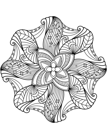 371x480 Flower Mandala Coloring Page Free Printable Coloring Pages