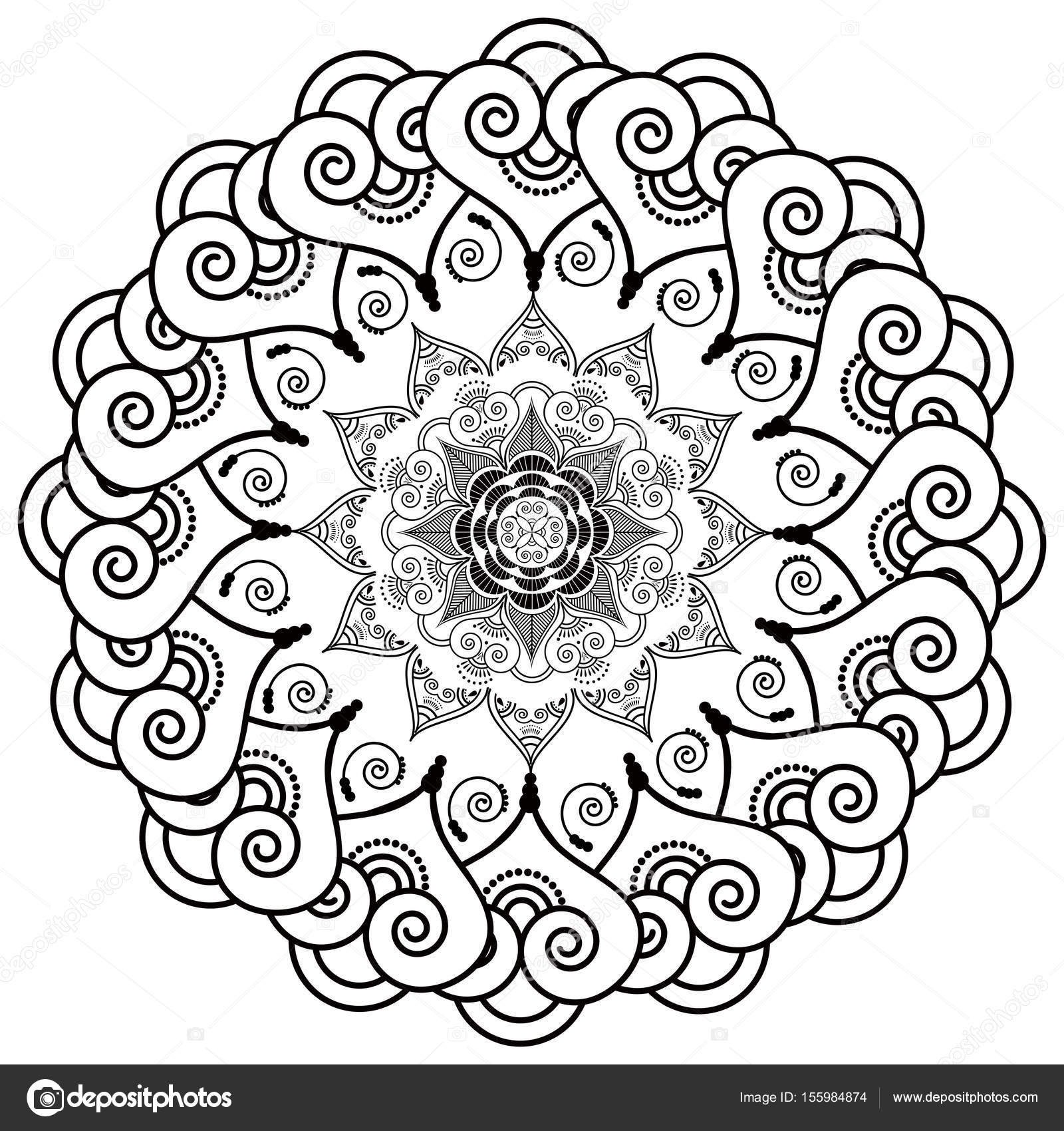 1600x1700 Rosette Style Mandala Flower Inspired By Asian Culture And Henna