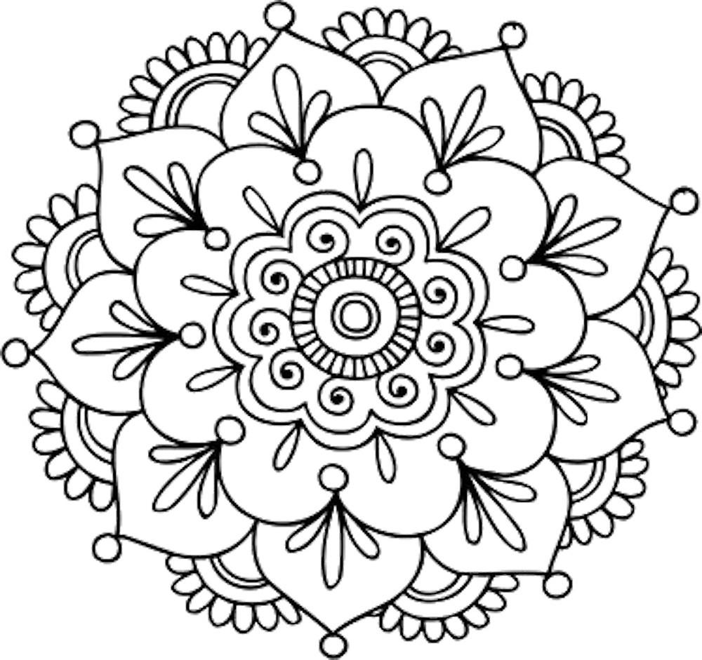 1000x941 Simple Mandala Flower By Mermaidnatalie Redbubble