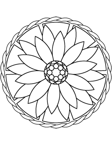 Mandala Flower Drawing At Getdrawings Com Free For