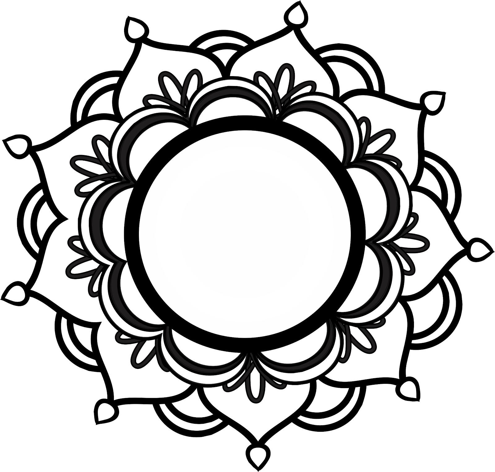 Mandala tattoo drawing at getdrawings free for personal use 1600x1525 amazing outline mandala tattoo design izmirmasajfo