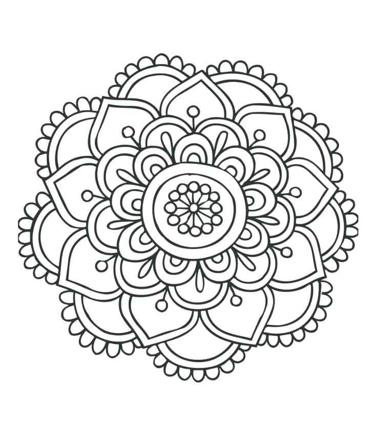 736x849 Mandala Designs Coloring Pages Best Simple