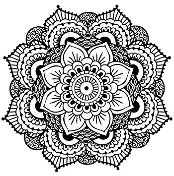 350x355 Yoga Mandala Temporary Tattoo