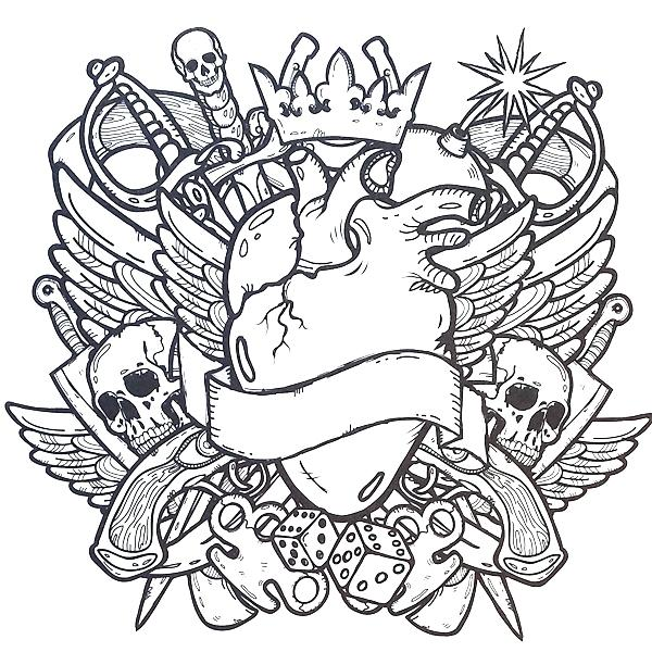 600x600 Top Rated Tattoo Coloring Pages Images Book