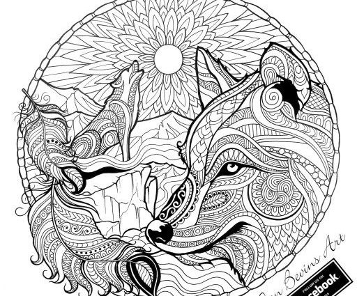 Mandala Wolf Drawing at GetDrawings.com | Free for personal use ...