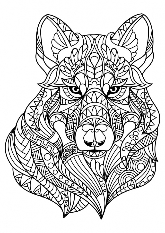 679x960 Wolf Coloring Pages For Adults