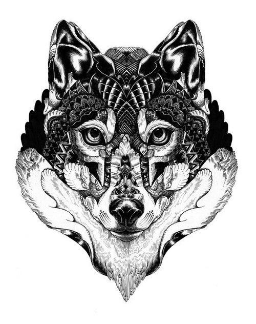 500x632 Designs That Will Get Under Your Skin Mandala Wolf Design