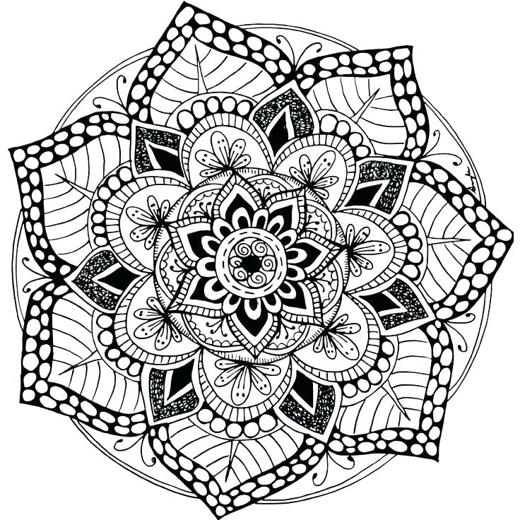 Mandala Wolf Drawing at GetDrawings   Free download