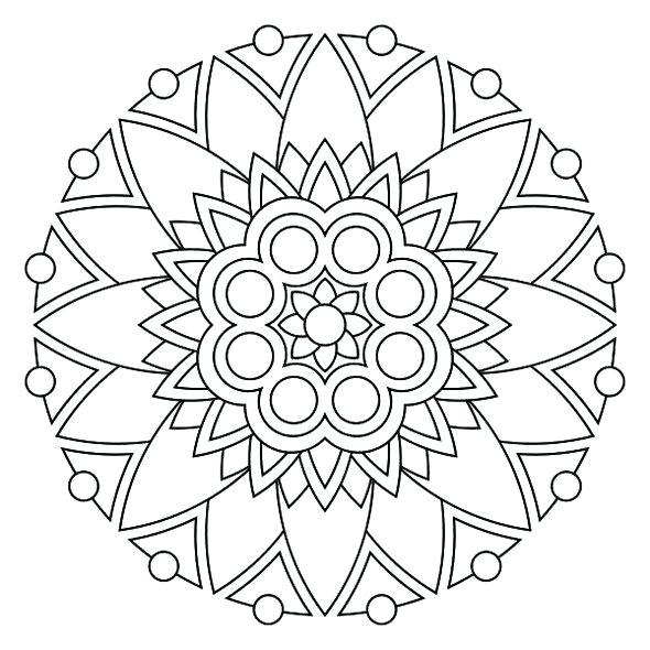 590x590 Chakra Mandala Coloring Pages Online My Little Pony