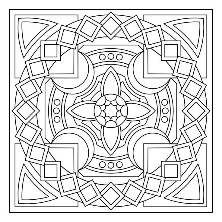 736x736 78 Best Interesting Mandalas To Color Images On Pinterest