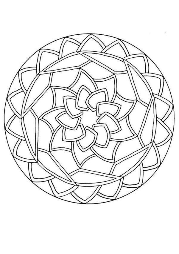 601x850 Stci, Coloriage Pour Adultes Et Enfants Mandalas Mandala