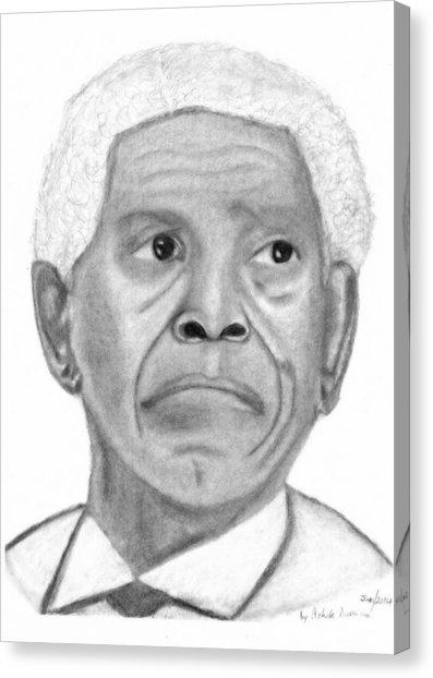 397x622 President Nelson Mandela Drawing Drawing By Ashok Naraian