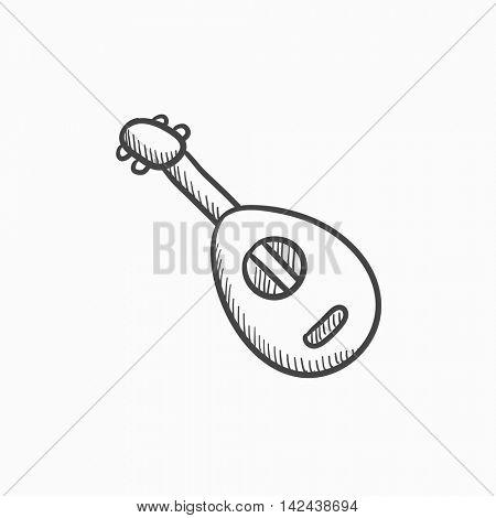 450x470 Mandolin Vector Sketch Icon Vector Amp Photo Bigstock