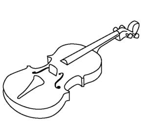 290x277 Music Viola And Bow Coloring Page, Viola, Viola Coloring Page