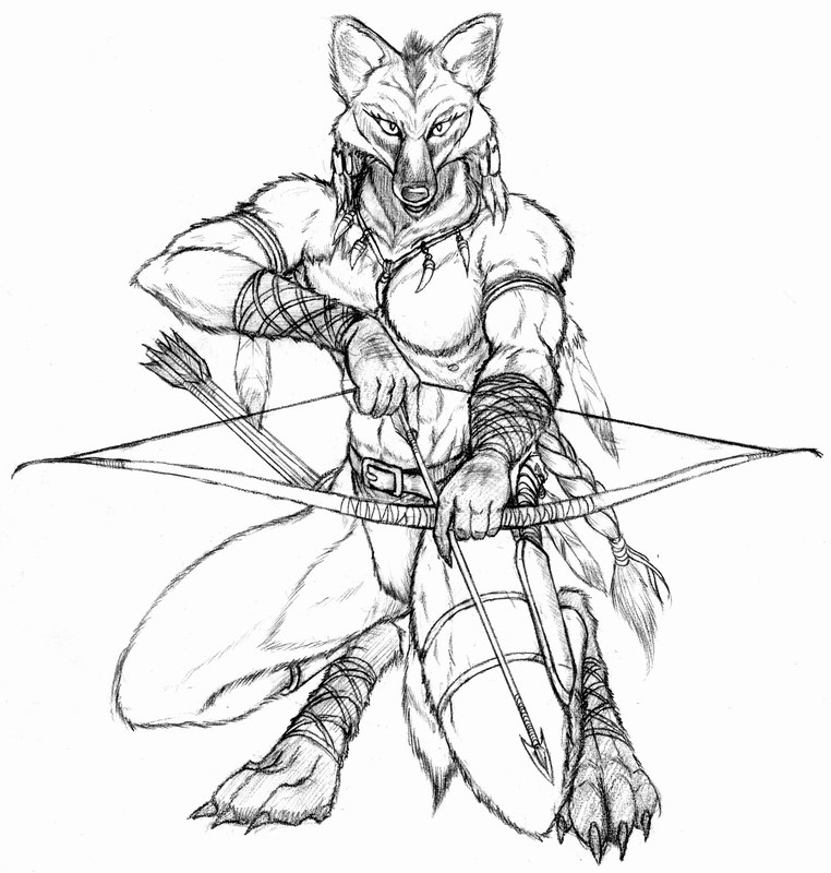 762x800 Female Maned Wolf Archer By Wolflsi