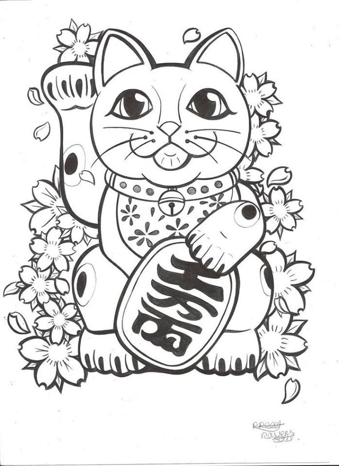Maneki Neko Drawing