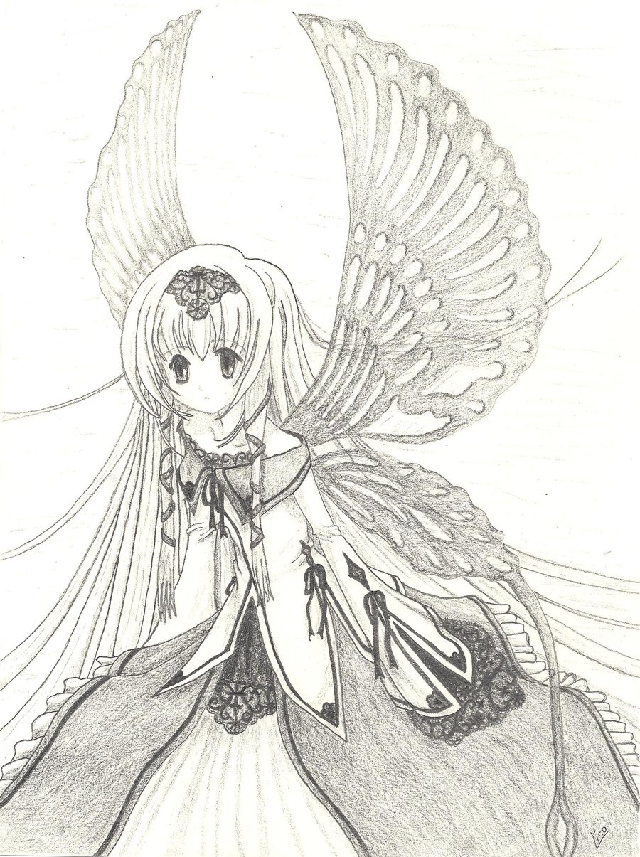 Manga Angel Drawing