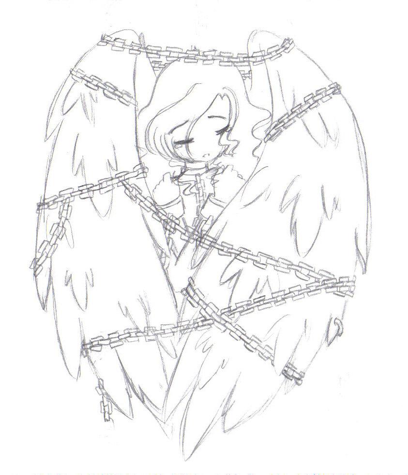 843x980 Chained Angel By Xmangamonkeyx