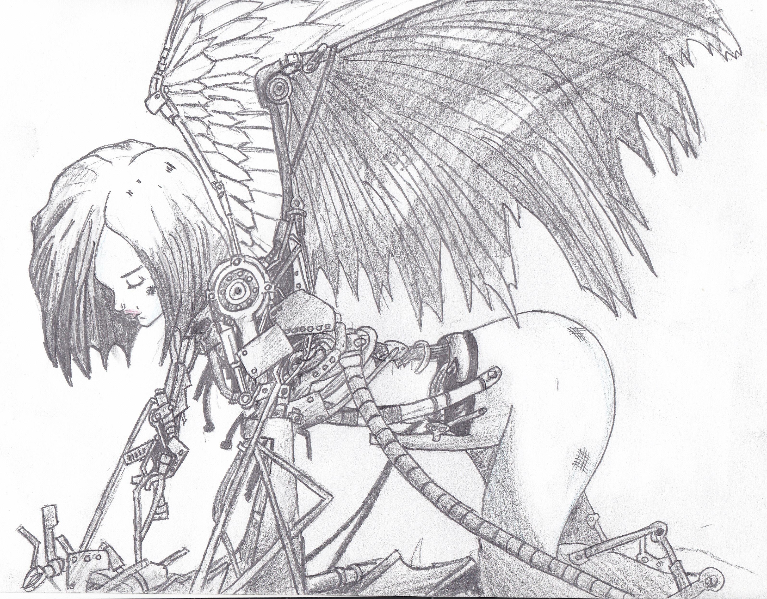 3192x2496 Awesome Free Printable Battle Angel Alita Anime Manga Coloring