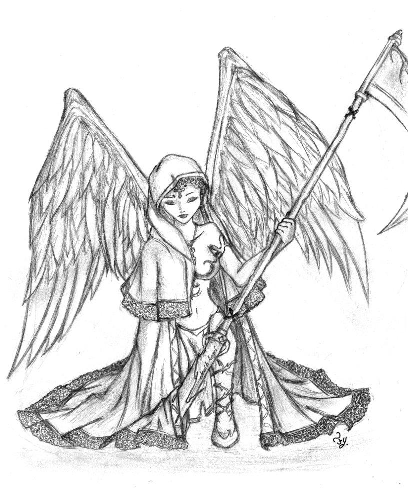 816x978 Death Angel By Alieonor