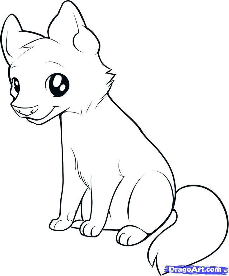 736x888 Drawn baby animal wolf