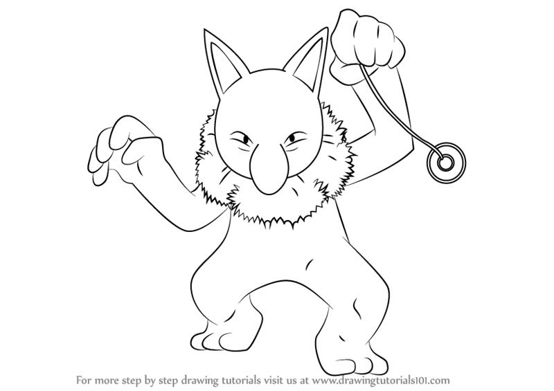 800x565 Learn How to Draw Hypno from Pokemon (Pokemon) Step by Step