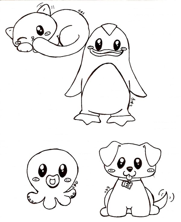 600x735 really cute animals by bakaUO on DeviantArt