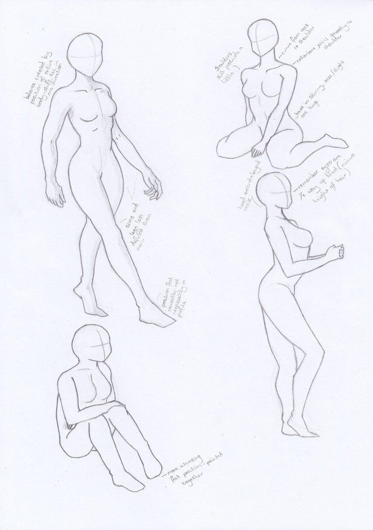 750x1065 Female Manga Body Studies By Aoempires
