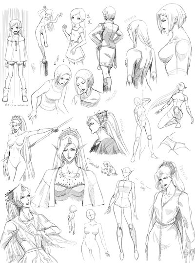 400x537 How To Draw Female Manga Anatomy