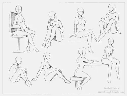 Anime Body Drawings