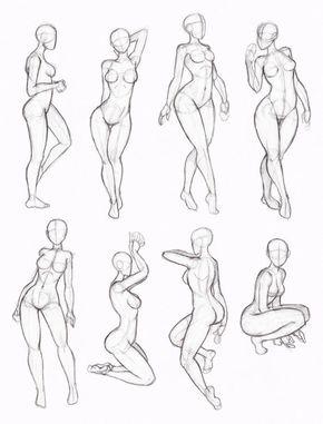 290x381 Tipos De Poses Mujer, Manga Drawings