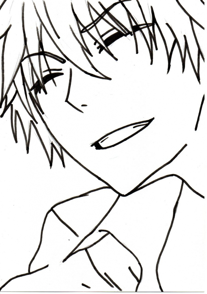 721x1024 Easy To Draw Anime Boy Images About Anime Line Drawings